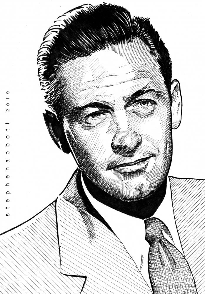 William Holden by Stefanosart